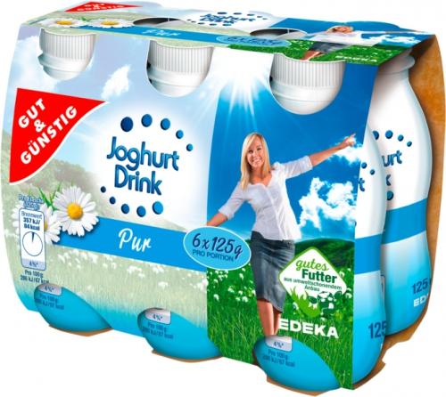 Joghurtdrink pur 6 x 125g, Januar 2018