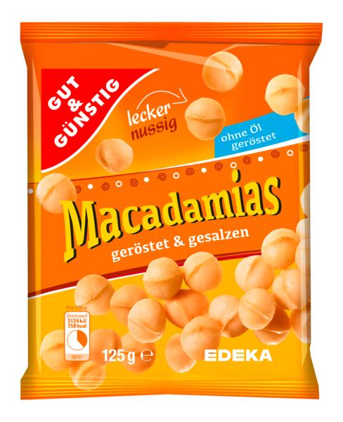 Macadamias, geröstet & gesalzen, Januar 2018