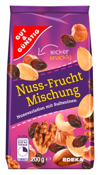 Nuss-Frucht-Mischung, Januar 2018