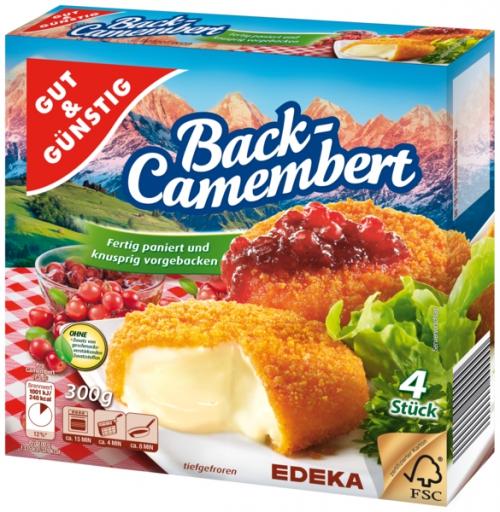 Back-Camembert, 4 Stück, Dezember 2017