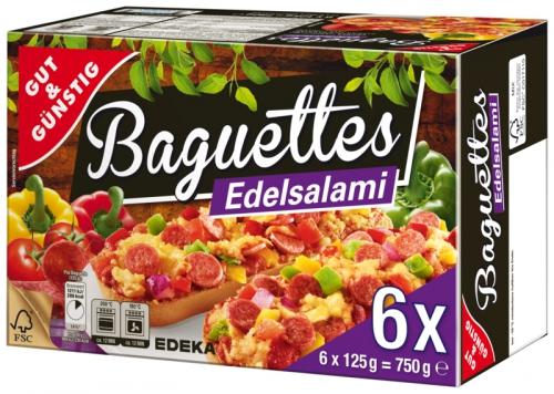 Baguettes Edelsalami, Dezember 2017