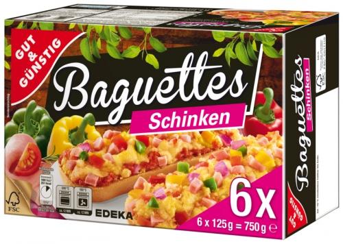 Baguettes Schinken, 6 Stück, Dezember 2017