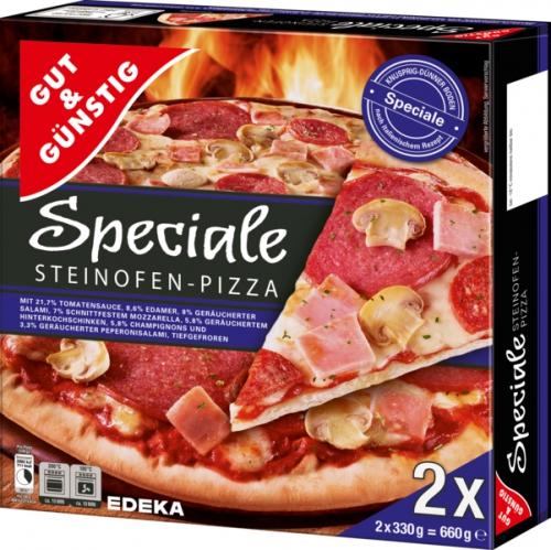 Steinofen Pizza Speciale, 2 Stück, Dezember 2017