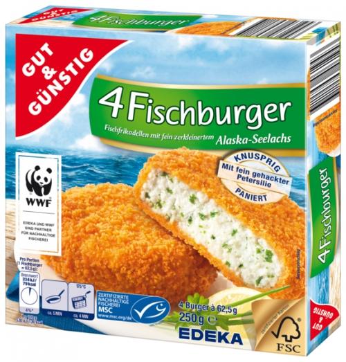 Fischburger, 4 Stück, Dezember 2017