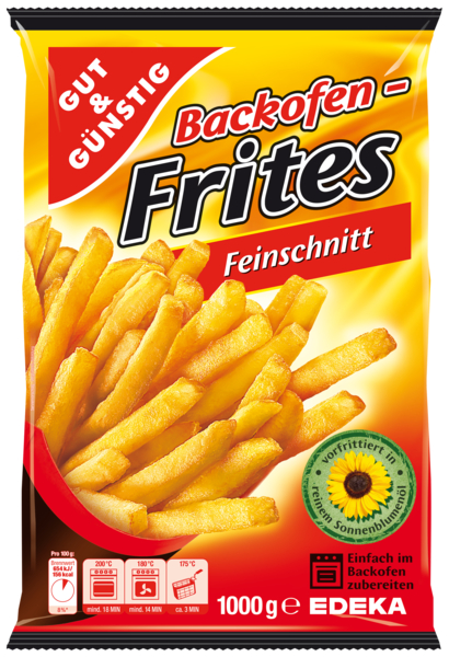 Backofen Frites, Feinschnitt, Dezember 2017