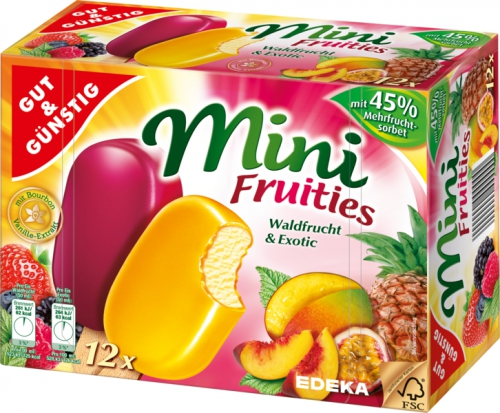 Mini Fruities, 12 Stück, Januar 2018
