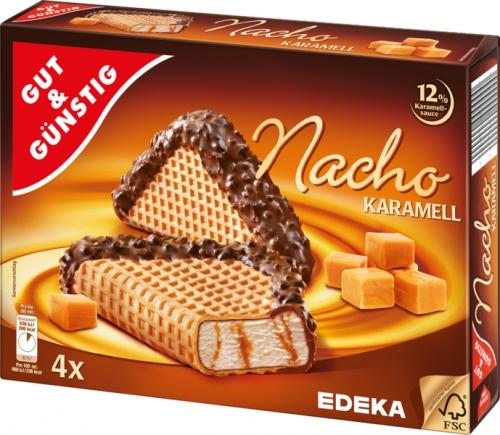 Nacho Eis Karamell, 4 Stück, Januar 2018