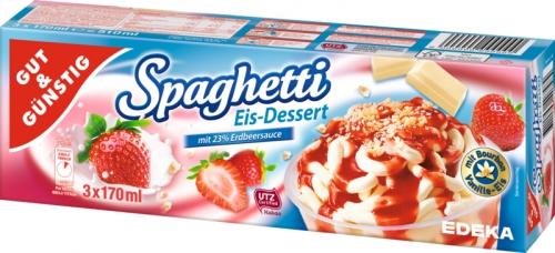 Spaghetti-Eis, 3 Stück, Januar 2018