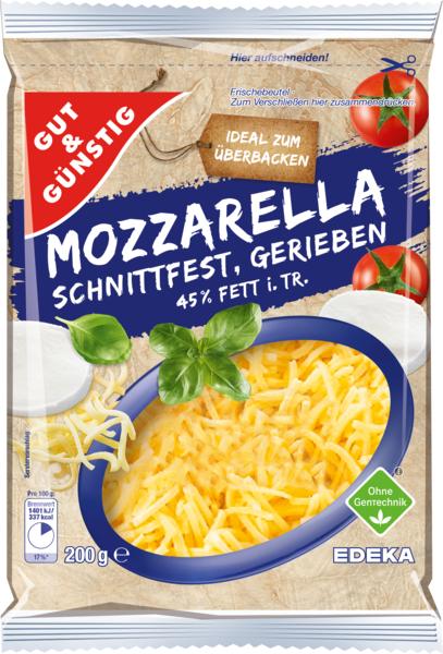 Mozzarella gerieben, Januar 2018