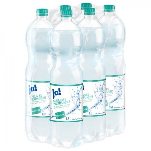 Mineralwasser Medium 6x1,5l, Februar 2017
