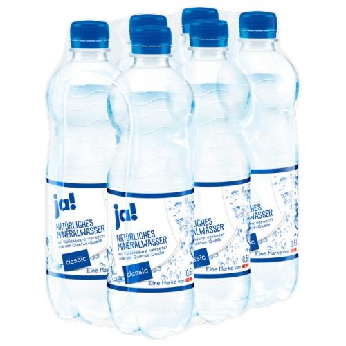 Mineralwasser Classic 6x0,5l, Februar 2017