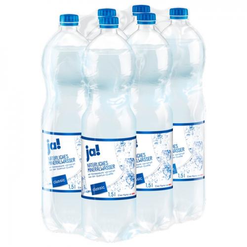 Mineralwasser Classic 6x1,5l, November 2017