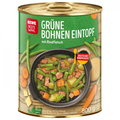 Grüne-Bohnen-Eintopf, April 2018