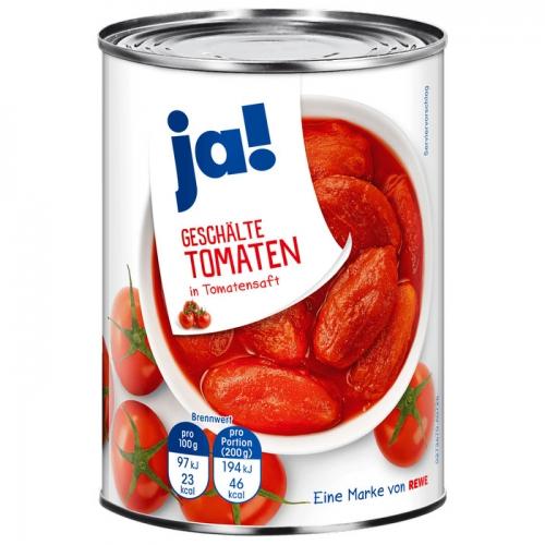 Tomaten geschält, Oktober 2017