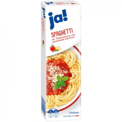 Spaghetti mit Tomatensauce & Hartkäse, Februar 2017