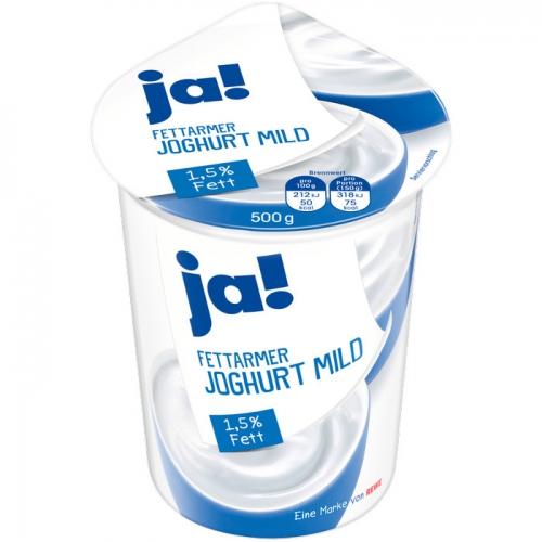 Fettarmer Joghurt mild, 1,5 % Fett, Mai 2017