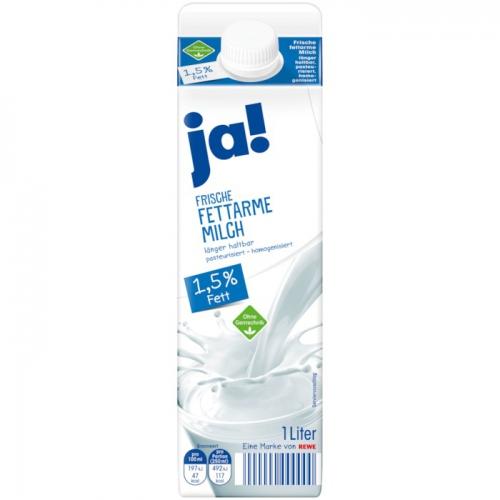 Frische fettarme Milch, 1,5 % Fett, November 2017