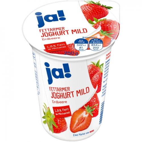 Fettarmer Joghurt mild Erdbeere, Mai 2017
