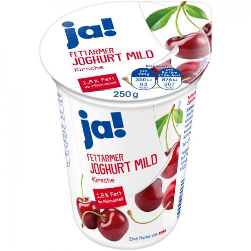 Fettarmer Joghurt mild Kirsche, Mai 2017