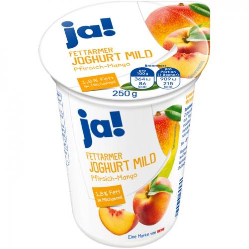 Fettarmer Joghurt mild Pfirsich-Mango, Mai 2017