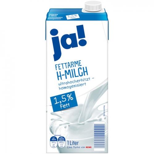 Fettarme H-Milch, 1,5 % Fett, November 2017