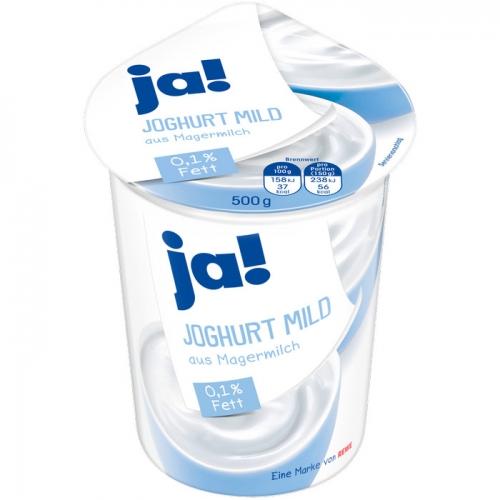 Joghurt mild, 0,1 % Fett, Mai 2017