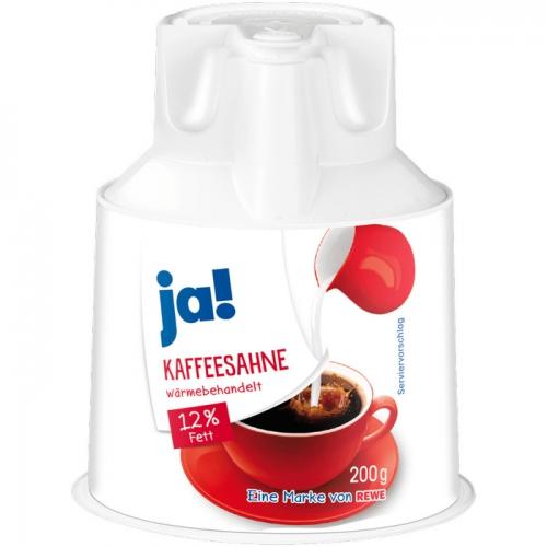 Kaffeesahne, 12 % Fett (Kännchen), November 2017