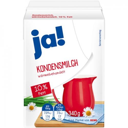 Kondensmilch, 10 % Fett, November 2017
