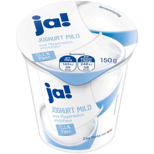 Joghurt mild, 0,1 % Fett, Dezember 2017