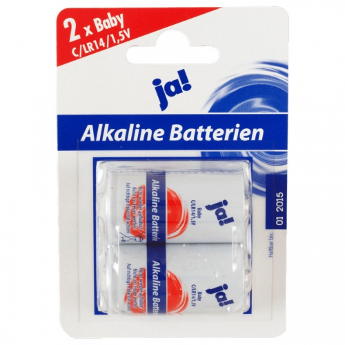 ja batterien alkaline 1 5 v baby c lr14 von rewe. Black Bedroom Furniture Sets. Home Design Ideas