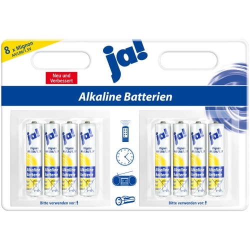 ja batterien alkaline 1 5 v mignon aa lr6 von rewe. Black Bedroom Furniture Sets. Home Design Ideas