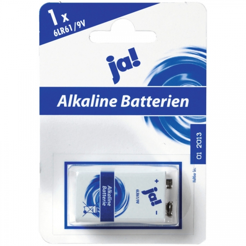 Batterien Alkaline | 9 V | E-Block | 9V | 6LR61, Januar 2017