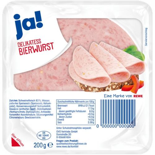 Delikatess-Bierwurst, Juli 2017