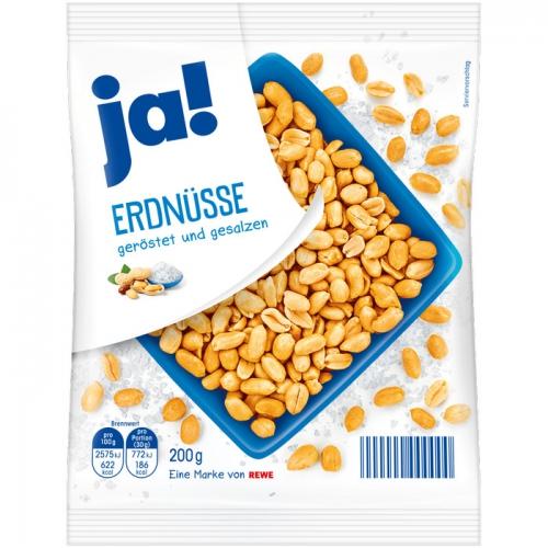 Erdnüsse geröstet und gesalzen, Januar 2018