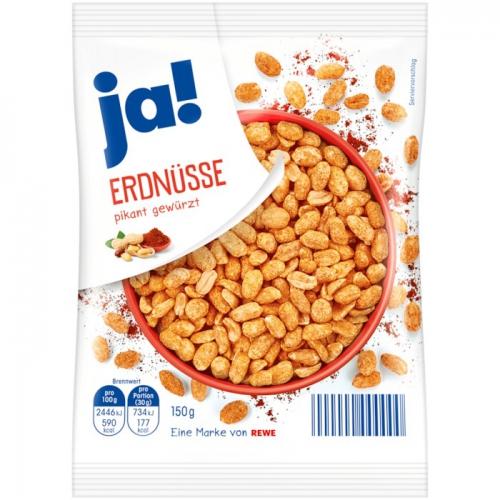 Erdnüsse pikant gewürzt, Januar 2018