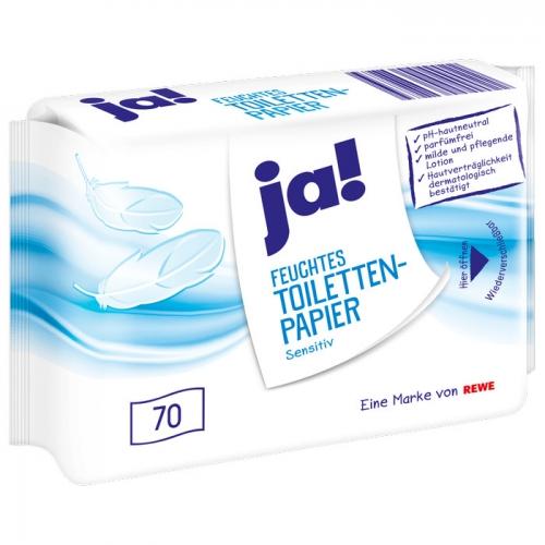Feuchtes Toilettenpapier Sensitiv, Januar 2018