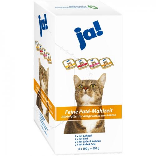 Katzenfutter Feine Paté-Mahlzeit, 8x100 g, Februar 2017