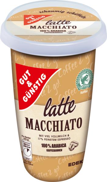 Kaffeedrink Latte Macchiato, Januar 2018