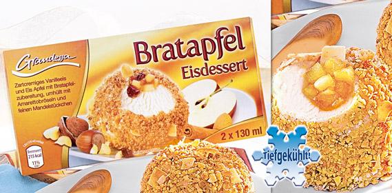 Bratapfel Eisdessert, 2x 130 ml, Dezember 2010