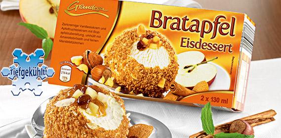 Bratapfel Eisdessert, 2x 130 ml, Oktober 2011