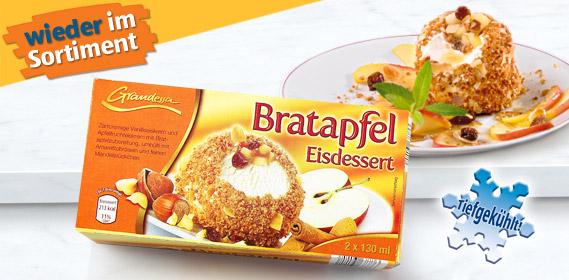 Bratapfel Eisdessert, 2x 130 ml, Dezember 2011