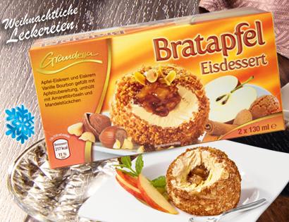 Bratapfel Eisdessert, 2x 130 ml, November 2013