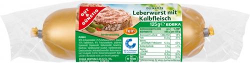 Kalbfleisch-Leberwurst, Dezember 2017