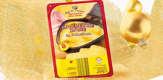 Raclette Käse, in Scheiben, Dezember 2010