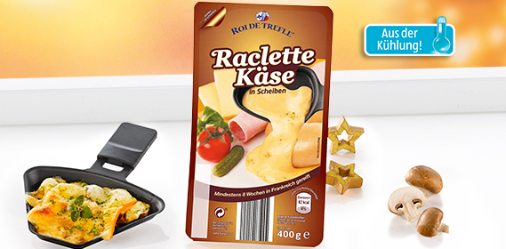 Raclette Käse, in Scheiben, November 2012