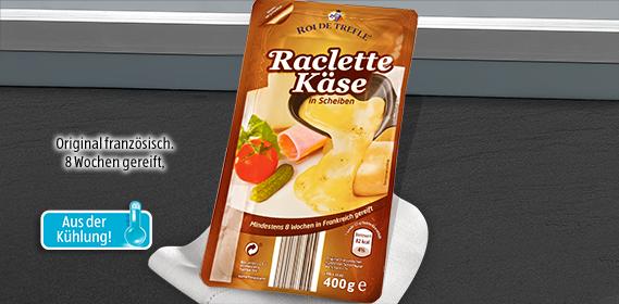 Raclette Käse, in Scheiben, Dezember 2012
