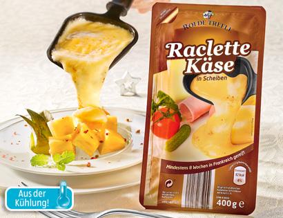 Raclette Käse, in Scheiben, Dezember 2013