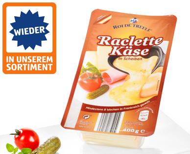 Raclette Käse, in Scheiben, September 2014
