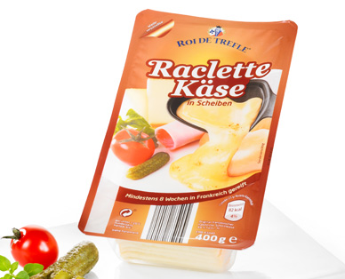 Raclette Käse, in Scheiben, Januar 2015