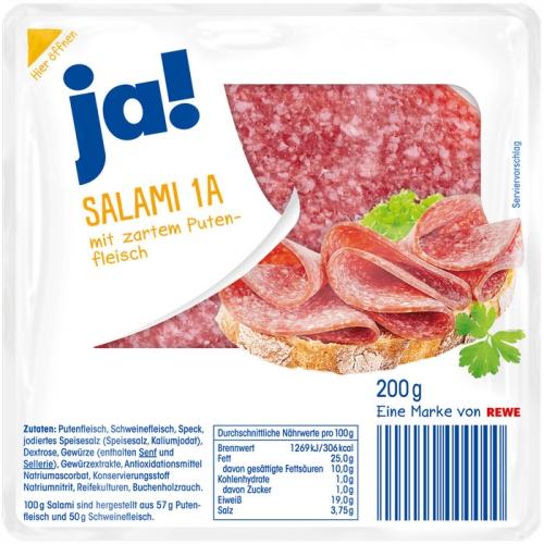 Salami 1a mit zartem Putenfleisch, Januar 2018